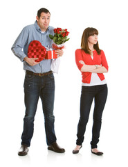 Valentine: Woman Annoyed with Valentine's Gifts