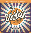 Retro tin sign design for cocktail lounge - 76132734