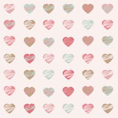 Pastel Hearts Pattern