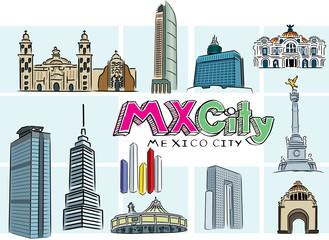 Mexico City doodle