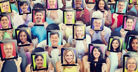 Diversity People Digital Communication Technology Concept
