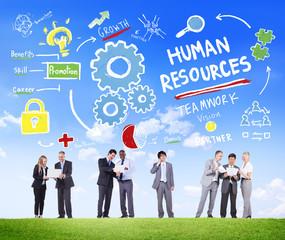 Human Resources Employment Team Communicate Concept