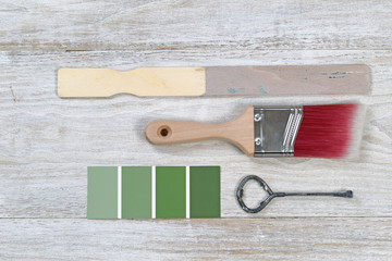 Selecting color to paint wooden boards