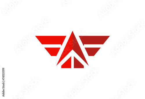 wing abstract up vector logo - 76133599