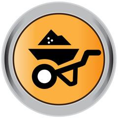 Wheelbarrow, icon, vector