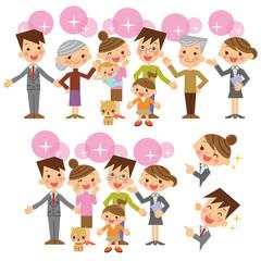 セールスマンと家族