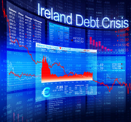 Ireland Debt Crisis Economic Stock Market Banking Concept