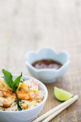 Riz frit aux crevettes , Thaïlande