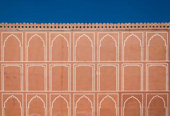 Art pattern on wall at City Palace, Jaipur
