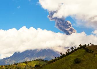 Tungurahua volcano explosion on august 2014, Ecuador, south amer