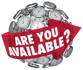 Are You Available Question Clocks Schedule Meeting Request Time