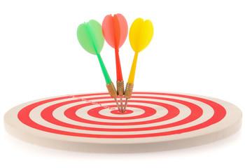 Dart target with arrows
