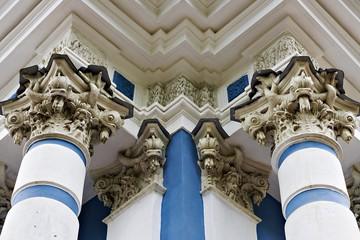 palace columns in Tsarskoye Selo, Pushkin, Russia