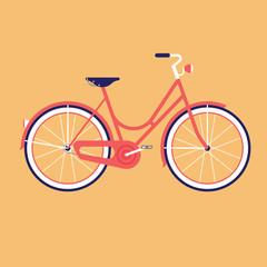 Bike for the city. Flat vector illustration