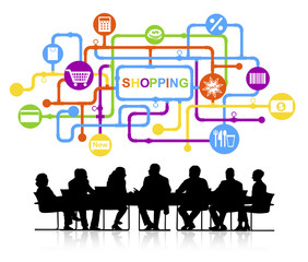 Group Business People Meeting Shopping Concept