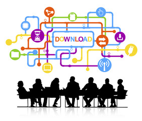 Group of People Meeting Discussion Download Vector Concept