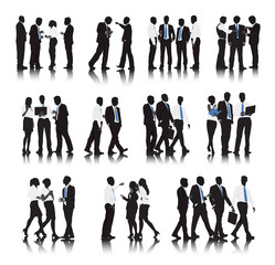 Vector Multi-ethnic Business People Teamwork Concept