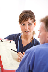 Doctors: Discussing Test Results with Patient