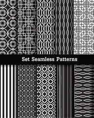 set retro seamless patterns.vector