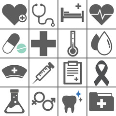 Vector of Health Hospital Flag Design Icons Symbol Concept