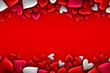 canvas print picture - Colorful hearts background