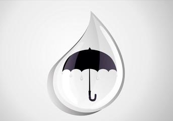 Open black umbrella