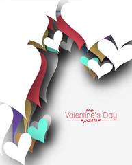 Valentines Day Heart Design on White Background