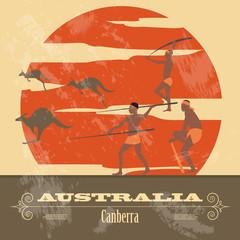 Australia  landmarks. Retro styled image