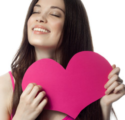 woman beauty with heart