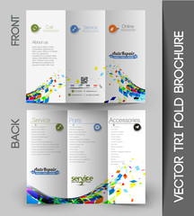 Automobile Center Tri-Fold Brochure