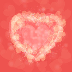 St. Valentine's Day abstract vector background