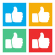 Vector of Social Networking Like Icons Global Communication Conc