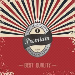 premium retro badge