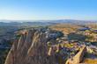 Uchisar Castle in Cappadocia Turkey