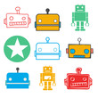 canvas print picture - Vector of Technology Automatic Robot System Concept