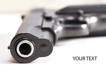 Gun pistol isolated