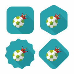 soccer ball flat icon with long shadow,eps10