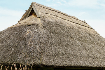 Lithuanian rural old building roof