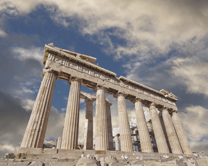 Acropolis of Athens Greece, Parthenon ancient temple