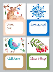 Watercolor beautiful gift cards collection