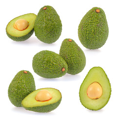 Collection of slice avocado