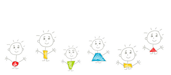 strichmännchen strich stift skizze kinder