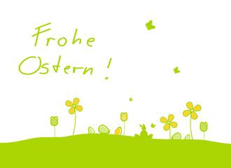 Frohe Ostern Wiese