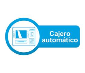 Etiqueta app lateral azul Cajero automatico