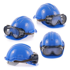 Helmet and Safety glasses set