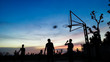 canvas print picture - Baketball Match