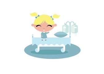 child kid hospital illustration