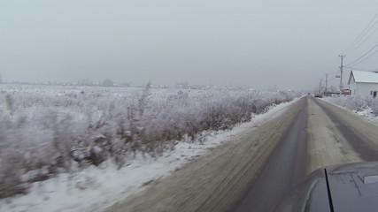 road in  village in  winter. Ukraine