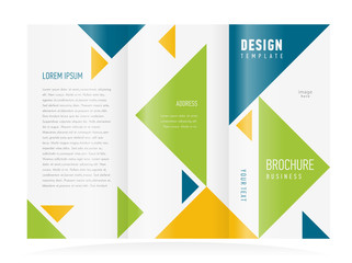 brochure design template triangles figure