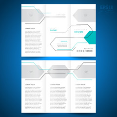 brochure design template trifold vector geometric abstract line,